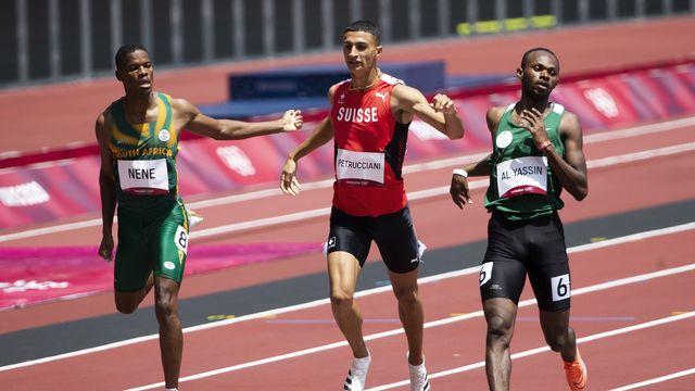 Troisième de sa série, Ricky Petrucciani s'est qualifié pour les demi-finales du 800m aux JO de Tokyo. [Peter Klaunzer - Keystone]