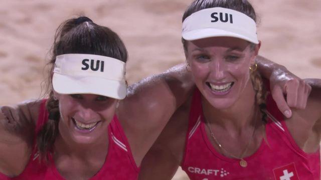Beachvolley, 1-8 dames: la paire Vergé-Dépré-Heidrich s'impose face à Huberli-Betschart (21-12, 19-21, 23-21) dans une rencontre 100% suisse de folie! [RTS]