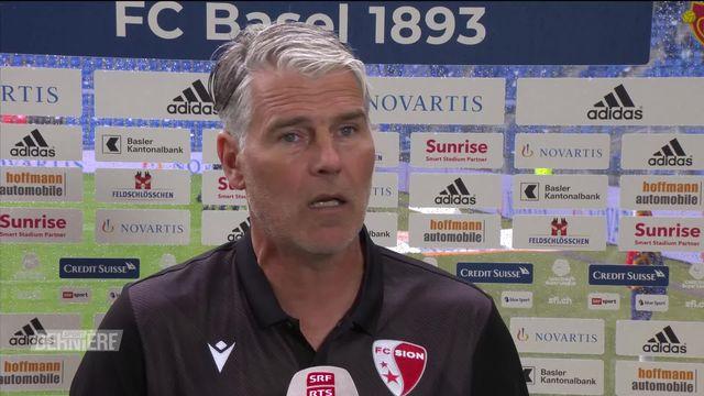 Super League, 2e journée: la réaction de Marco Walker sur le match du FC Sion [RTS]