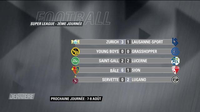 Super League, 2e journée: résultats et classement [RTS]