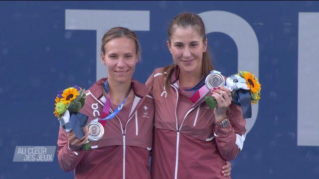Tennis: retour sur la médaille d'argent du  duo Golubic - Bencic avec Christiane Jolissaint [RTS]