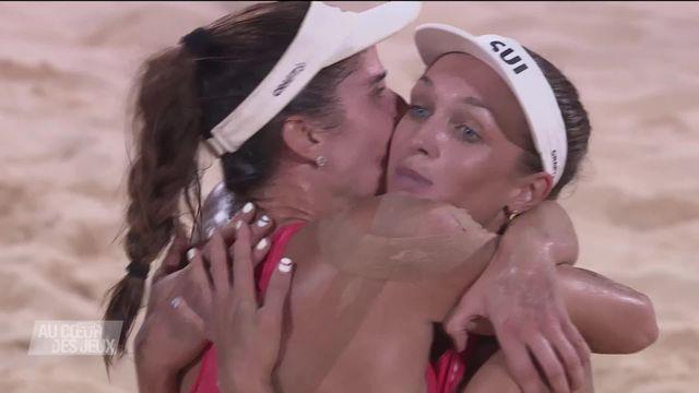 Le point du jour: une rencontre 100% suisse au beach volley féminin [RTS]