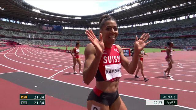 Athlétisme, 200m dames séries: Kambundji (SUI) se qualifie pour les demi-finales en remportant sa série [RTS]
