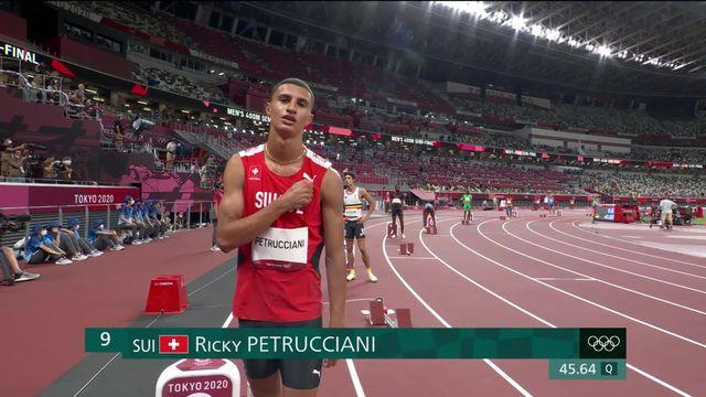Athlétisme, 400m messieurs: Petrucciani (SUI) s'arrête au stade des 1-2 finales [RTS]