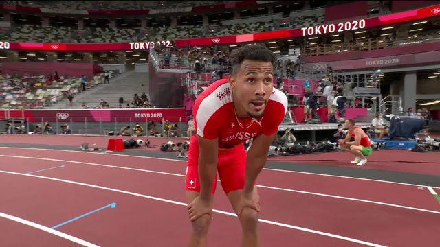 Athlétisme, 110m haies messieurs: bon chrono pour Joseph (SUI) qui se qualifie pour les 1-2 [RTS]