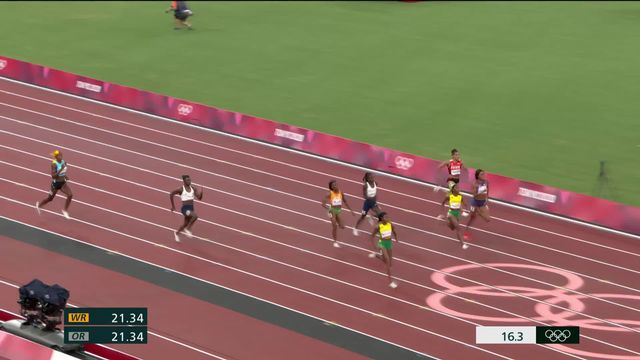 Athlétisme, 200m dames: Thompson (JAM) en or, Kambundji (SUI) termine à la 7e place [RTS]