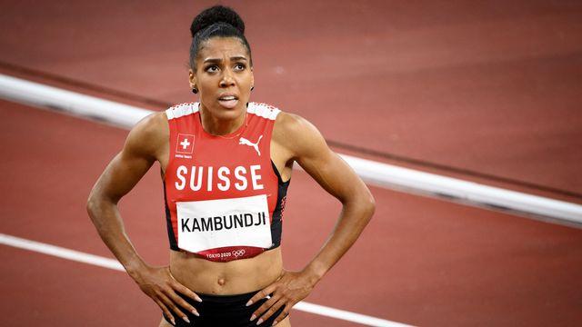 Mujinga Kambundji a tout donné en finale du 200m. [Laurent Gillieron - Keystone]