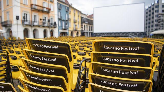 La Piazza Grande de Locarno le 3 août 2021. [Urs Flueeler - Keystone]