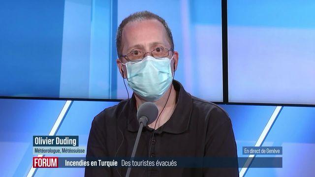 Canicule et incendies au sud-est de l'Europe: interview d'Olivier Duding (vidéo) [RTS]