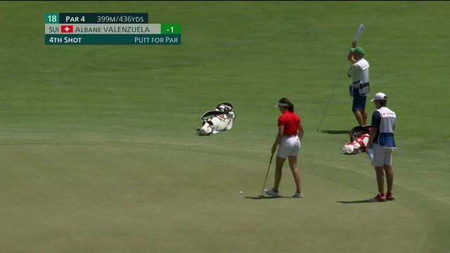 Golf dames, 1er tour: Albane Valenzuela (SUI) termine le 1er tour dans le par. [RTS]