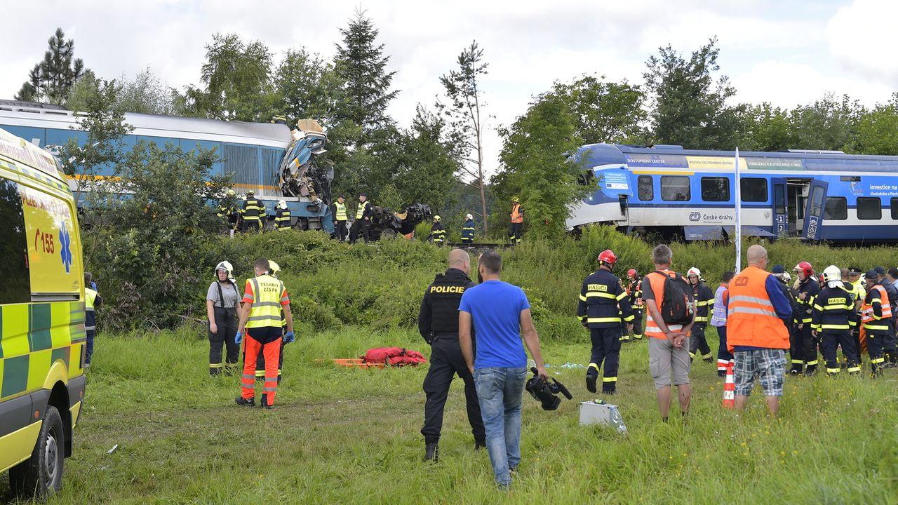 La collision s'est produite dans l'ouest de la République tchèque. [Miroslav Chaloupka - CTK Photo/AP/Keystone]