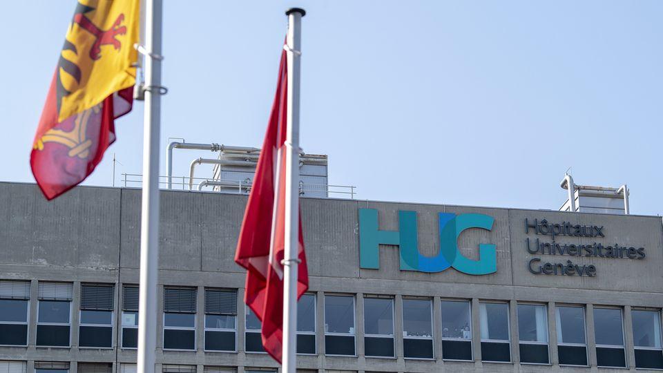 Le bâtiment principal des Hôpitaux universitaires de Genève (HUG). [Martial Trezzini - KEYSTONE]