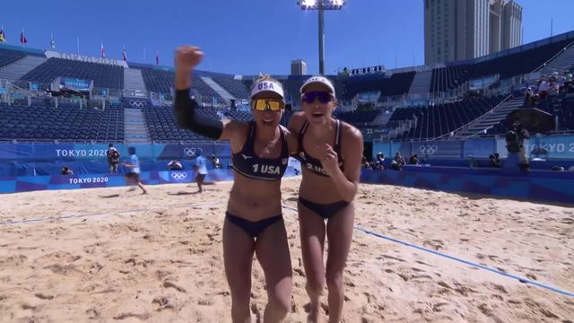 Beachvolley, 1-2 dames: SUI - USA (12-21, 11-21): les Suissesses s'inclinent et joueront la petite finale pour remporter le bronze [RTS]