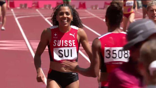 Athlétisme, 4 x 100 relais dames: les Suissesses battent le record national et se qualifie pour la finale [RTS]