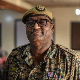 Robert Obrein, le responsable de Kenya Wildlife Services (KWS) pour la région d'Isiolo le 17 juillet 2021. [Tony Karumba - AFP]