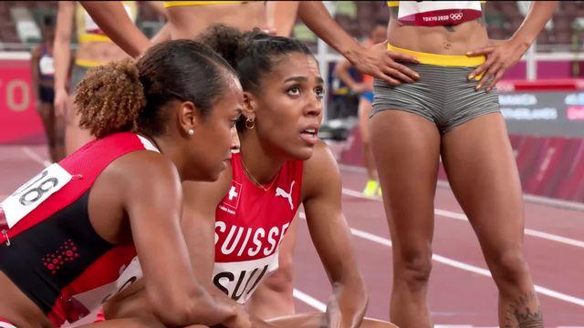 Athlétisme, 4x100 dames: la Suisse au pied du podium, la Jamaïque en or! [RTS]