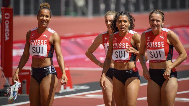Le relais suisse a perdu du temps lors du dernier passage de relais. [Laurent Gillieron - Keystone]