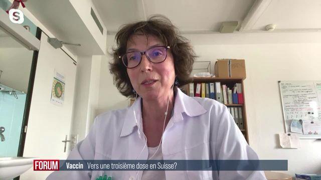 La troisième dose de vaccin est-elle vraiment indispensable? Interview de Frédérique Jacquerioz [RTS]