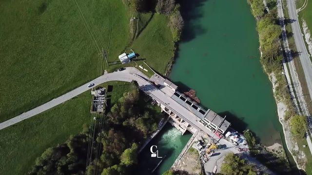 Vu du Ciel: le plus petit des barrages fribourgeois, celui de Lessoc [RTS]