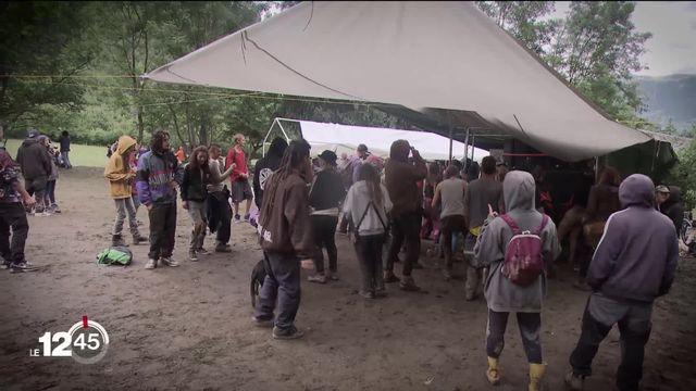 Une rave party géante à Arbaz, dans le canton du Valais [RTS]