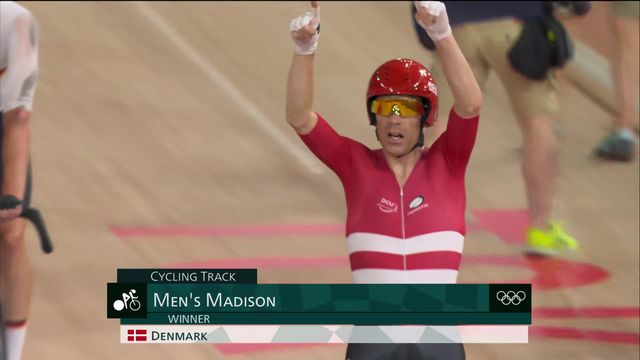 Cyclisme piste, Madison messieurs: le Danemark champion! [RTS]