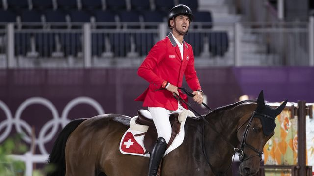Guerdat a été le meilleur cavalier suisse dans le concours par équipes. [Peter Klaunzer - Keystone]