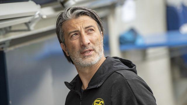 Murat Yakin, ancien international, a notamment dirigé Lucerne, le FC Bâle, GC et Sion. Il s'occupait dernièrement du FC Schaffhouse. [Urs Flueeler - Keystone]