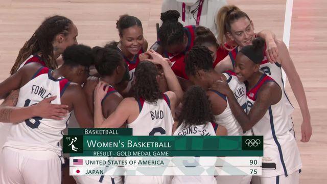 Basketball, finale dames, USA - Japon (90-75): les USA remportent l'or pour la 7e fois consécutive ! [RTS]