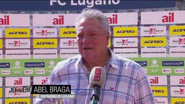 Super League, 3e journée: la réaction d'Abel Braga sur le match Lugano - St-Gall [RTS]