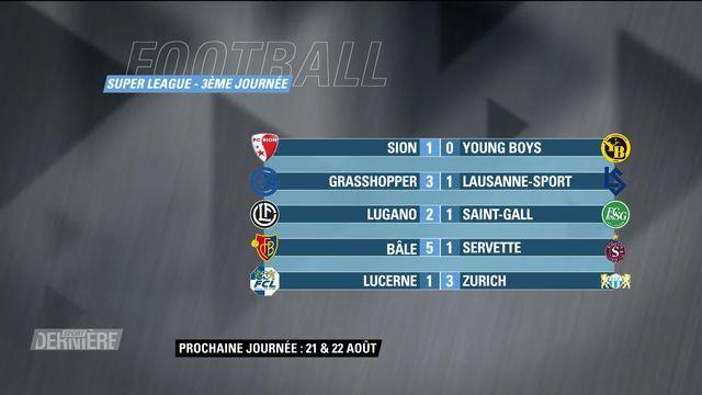 Super League, 3e journée: résultats et classement [RTS]