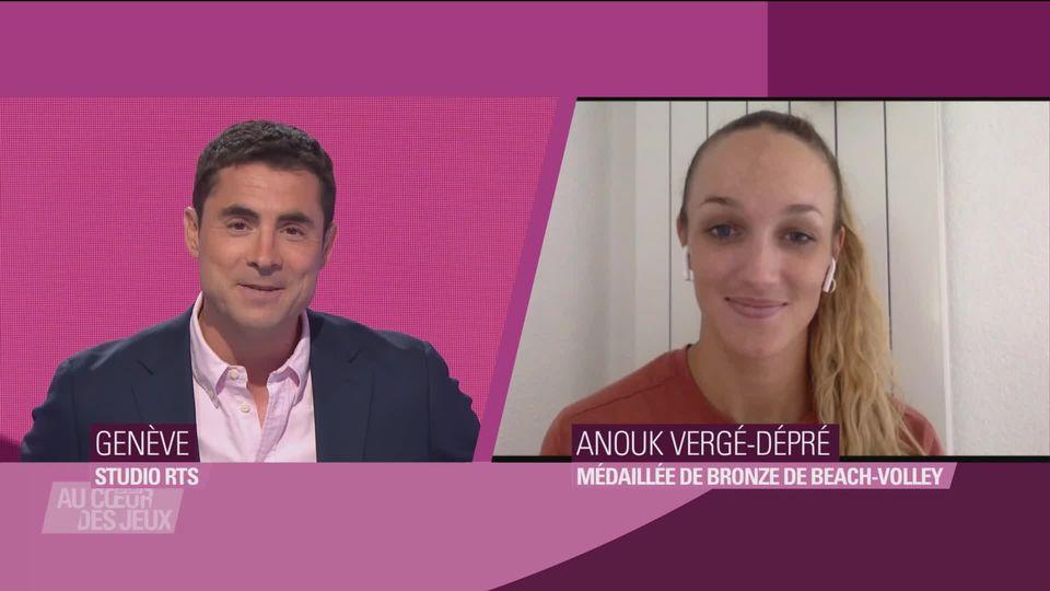 Interview d'Anouk Vergé-Dépré qui a remporté la dernière médaille suisse [RTS]