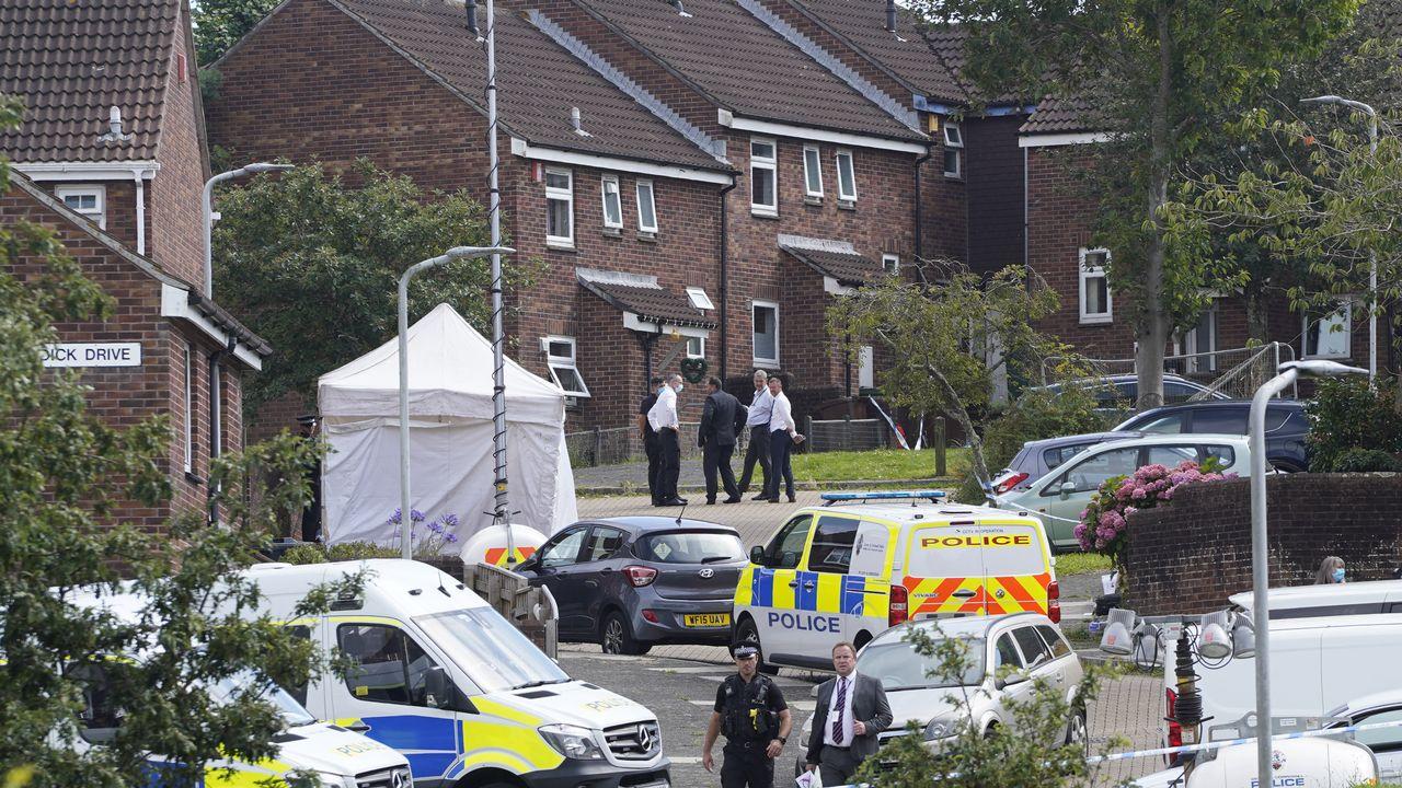 La fusillade a fait 11 morts dans la ville habituellement paisible de Plymouth, au sud-ouest de l'Angleterre. [Niklas Halle'n - AFP]