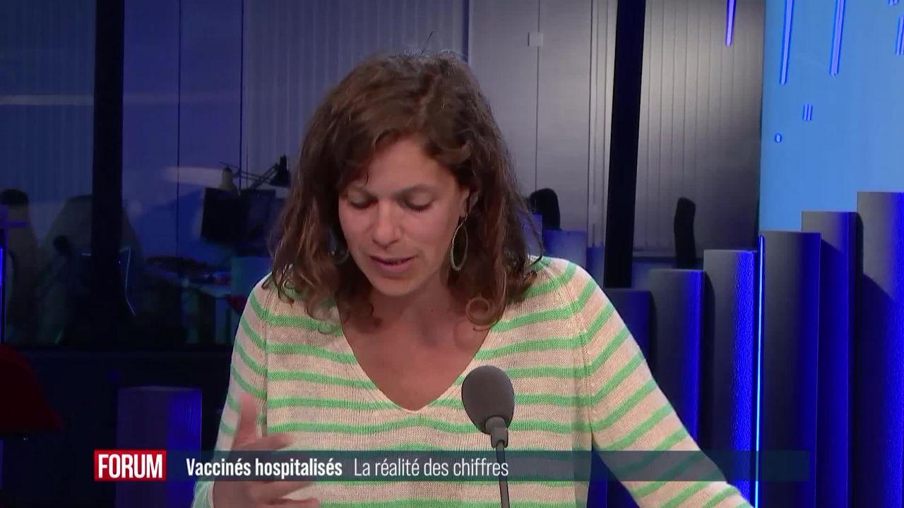 Douze fois moins d'hospitalisations dues au Covid chez les vaccinés en Suisse [RTS]