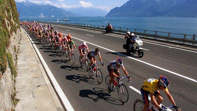 La dernière arrivée du Tour à Lausanne remonte au 19 juillet 2000. L'étape reliait Evian-les-Bains à la capitale vaudoise. [Patrick Kovarik - AFP]