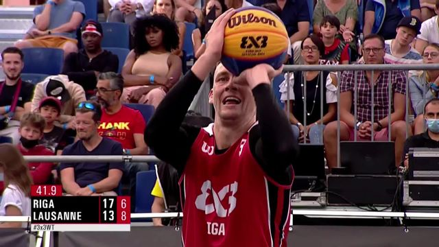 Basketball 3x3, Riga - Lausanne (19-13): Riga l'emporte face à Lausanne [RTS]