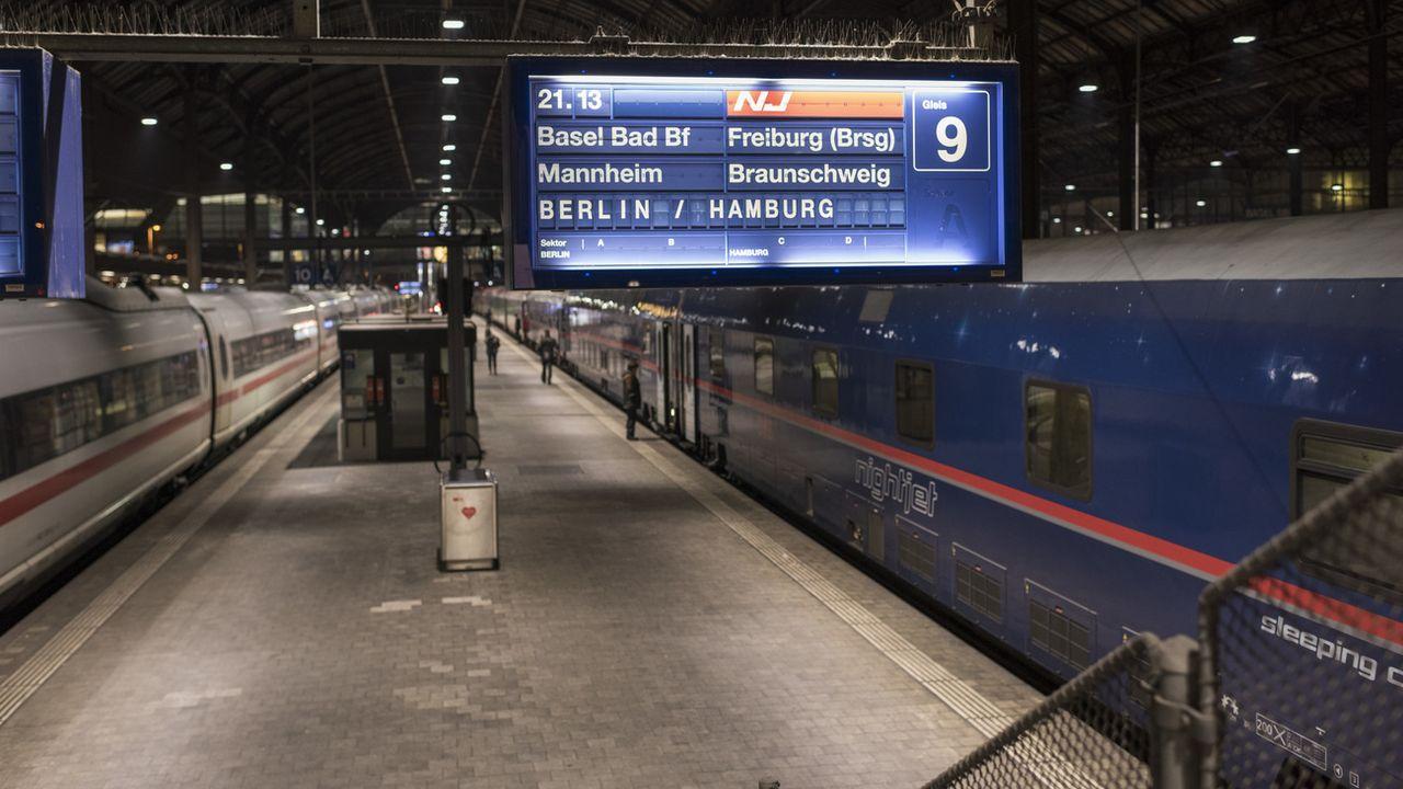 La liaison Zurich-Berlin est opérée par la compagnie autrichienne ÖBB. [Christian Beutler - Keystone]