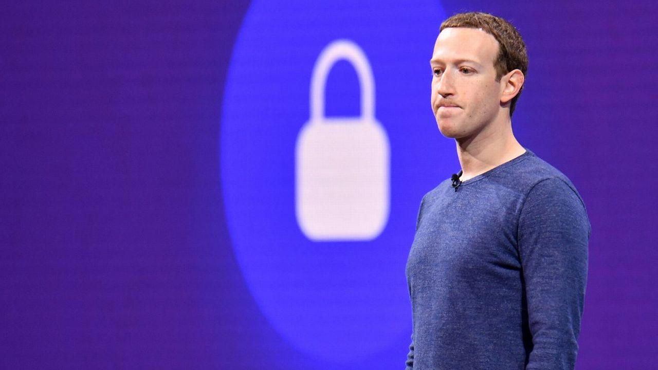 Mark Zuckerberg, PDG de Facebook, lors d'un sommet à San Jose, en Californie, le 1er mai 2018. [Josh Edelson - AFP]