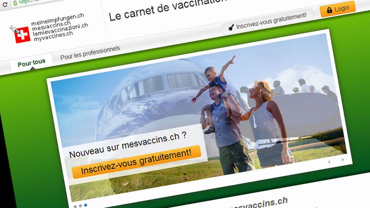 La plateforme faisait office de carnet de vaccination électronique. [Mesvaccins.ch/capture d'écran]