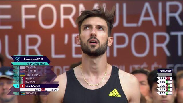 Athletissima, saut en hauteur: Loïc Gash (SUI) ne passe pas 2m27 [RTS]