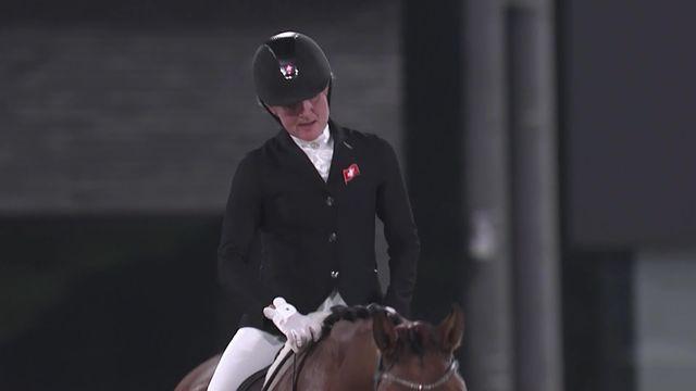 Paralympiques, hippisme, dressage individuel test, grade V: le passage de Nicole Geiger (SUI) qui termine 14e [RTS]