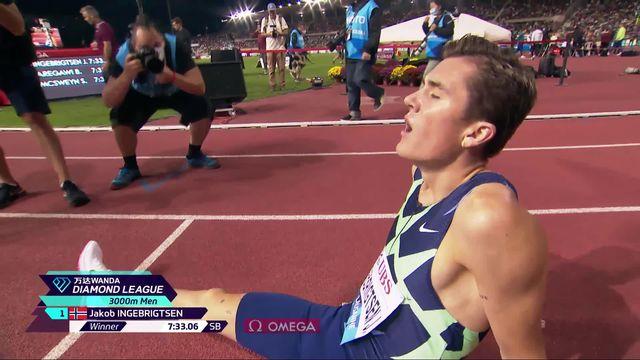 Athletissima, 3000m messieurs: Ingebrigtsen (NOR) s'impose, Raess (SUI) 13e [RTS]