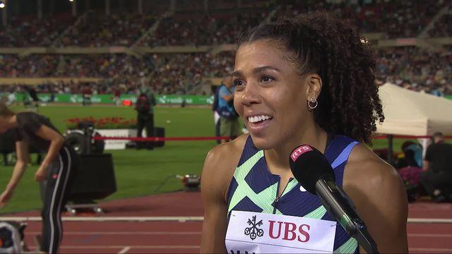 Athletissima, 100m dames: Kambundji (SUI) à l'interview après sa course [RTS]