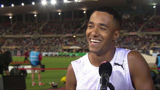 Athletissima, 200m messieurs: l'interview de Reais (SUI) [RTS]