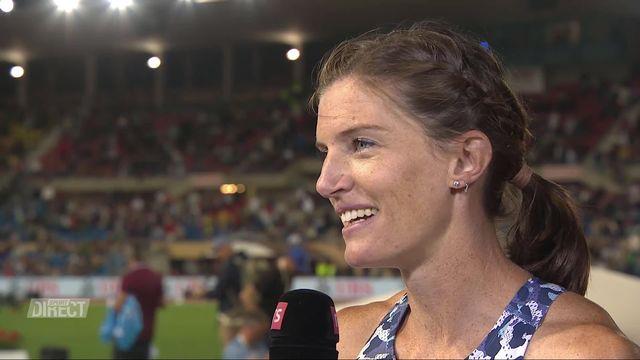 Athletissima, 4x100m dames: l'interview de Sprunger (SUI) [RTS]