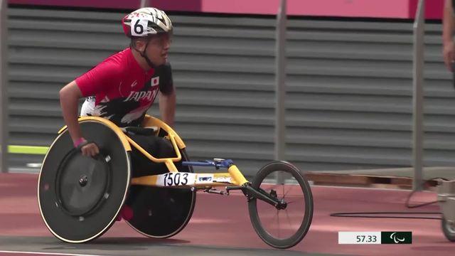 Paralympiques, athlétisme, 400m T52: le passage de Beat Boesch (SUI) qui termine 9e [RTS]
