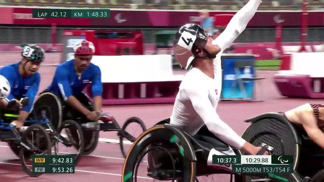 Paralympiques, athlétisme, finale 5000m T53-54: superbe victoire de Marel Hug (SUI) ! [RTS]