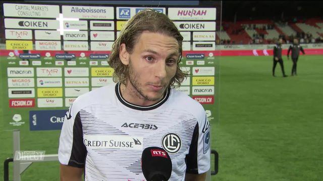 5e journée, Sion – Lugano (3-2): Numa Lavanchy: « C'est une faute professionnelle » [RTS]