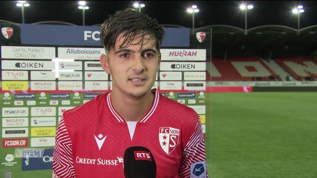5e journée, Sion – Lugano (3-2): interview de Théo Berdayes après la victoire [RTS]