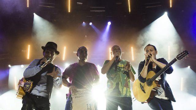 Le groupe français Tryo (ici photographié en 2013) était au programme. [Jean-Christophe Bott - Keystone]