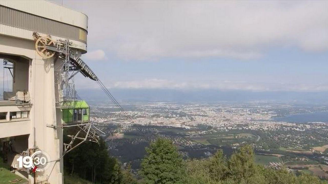 Le téléphérique du Salève ferme dimanche pour deux ans de travaux. [RTS]